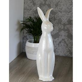 image-Sitting Rabbit Figurine August Grove Colour: Iced white