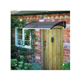 image-Tinted Door Garden Canopy Black 1.2m