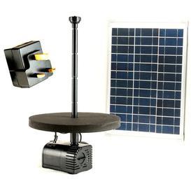 image-Acrylic Solar Pond Fountain Pump