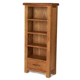 image-Earls Wooden DVD Storage Stand In Chunky Solid Oak