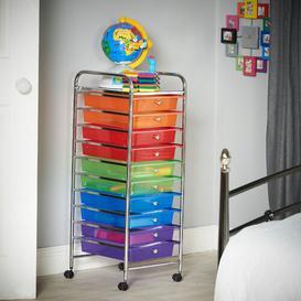 image-Clark 10 Drawer Storage Utility Cart Symple Stuff Colour: Multicolour