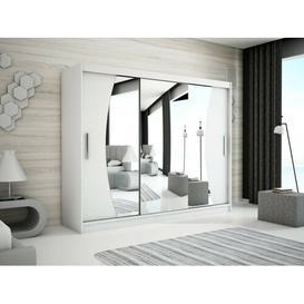 image-Merete 2 Door Wardrobe Ebern Designs Size: 200cm H x 250cm W x 62cm D, Finish: Matt White