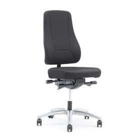 image-Office chair BIRMINGHAM, black fabric, grey base