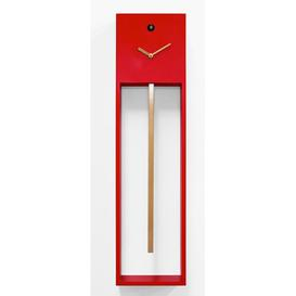 image-Bechtold Cuckoo Clock Ebern Designs Finish: Red/Gold