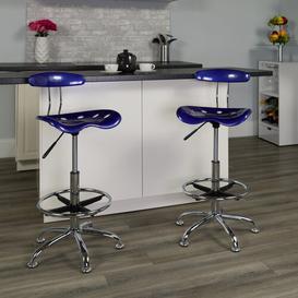 image-Lila Ergonomic Draughtsman Chair Blue Elephant Colour: Deep Blue