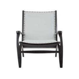 image-Formosa Teak Wood Chair With Grey Leather