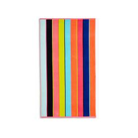 image-Pure Cotton Sand Resistant Striped Beach Towel