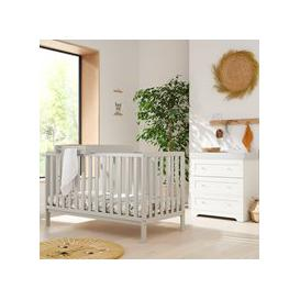 image-Tutti Bambini Malmo Cot Bed with Rio Furniture 2 Piece Nursery Set - Oak & Grey