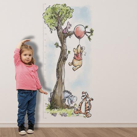image-Disney Winnie The Pooh Height Chart Sticker MultiColoured