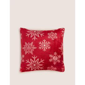 image-Fleece Snowflake Medium Christmas Cushion