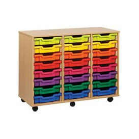 image-24 Shallow Tray Storage Unit, Orange, Free Standard Delivery