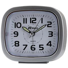 image-Romford Travel Analog Quartz Alarm Tabletop Clock Ravel Finish: Silver/Silver