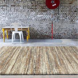 image-Mehari Striped Multi Brown Rug 67cm x 140cm