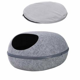 image-Kaison Oval Cat Bed Archie & Oscar Colour: Grey