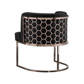 image-Alveare Dining chair Copper - Black