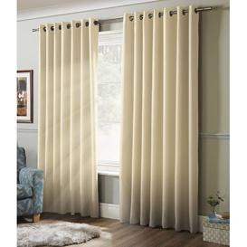 image-Marianne Eyelet Blackout Thermal Curtains Brayden Studio Panel Size: 104 W x 137 D cm, Colour: Cream