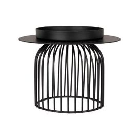 image-Black Cut Out Metal Candle Holder