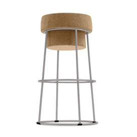 image-Drummond Bar Stool Williston Forge Colour (Frame): Matt Rust Lacquered/Brown