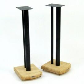 image-70cm Fixed Height Speaker Stand Symple Stuff Finish: Black/Natural Bamboo