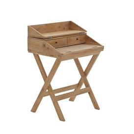 image-Alameda Secretary Desk Beachcrest Home Colour: Beige