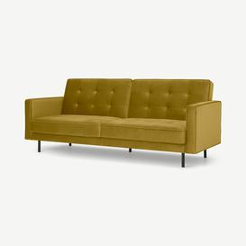 image-Rosslyn Click Clack Sofa Bed, Vintage Gold Velvet