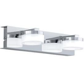 image-Eglo 94652 Romendo 2 Light Bathroom Wall Light In Chrome