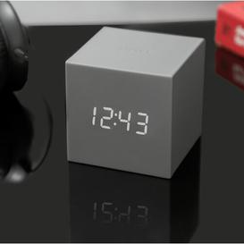 image-Modern Digital Electric Alarm Tabletop Clock Symple Stuff Finish: Grey