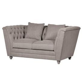 image-Grey Fabric 2 seater Buttoned Back sofa