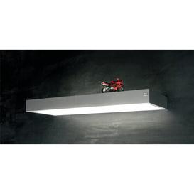 image-Lucian 1-Light Flush Mount Wade Logan Colour: Stainless steel look, Size: 5.2 cm H x 60 cm W x 20 cm D