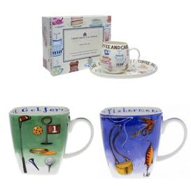 image-Christmas Hamper Him 4 Piece Bone China Coffee Mug Set Mercury Row