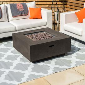 image-Chambaud Stainless Steel Natural Gas Fire Pit Table Sol 72 Outdoor Finish: Coffee
