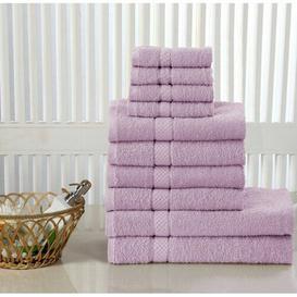 image-Lipe 10 Piece Towel Bale Symple Stuff Colour: Aubergine