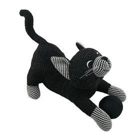 image-Cat Doorstop Black & White