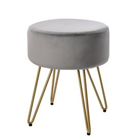 image-Ady Dressing Table Stool Canora Grey Seat Colour: Grey