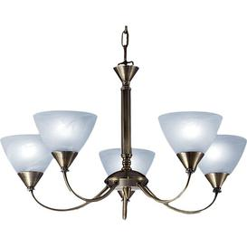 image-Millstone 5-Light Shaded Chandelier Ophelia & Co. Finish: Brushed Bronze