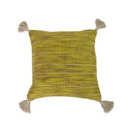 image-Shilo Ochre and Green Cushion Yellow, Brown and White