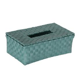 image-Tissue Box Cover Handed By Colour: Stone Green