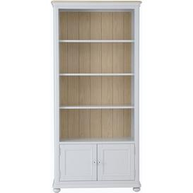 image-Annecy Soft Grey Painted 2 Door Bookcase
