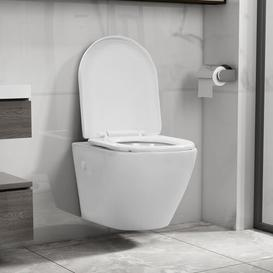 image-Mencia Wall Hung Toilet with Soft Close Seat Belfry Bathroom