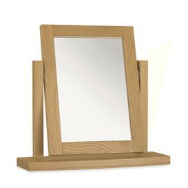 image-Bentley Designs Hampstead Oak Dressing Table Mirror