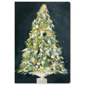 image-'Christmas Tree 2' Painting on Wrapped Canvas East Urban Home Size: 61 cm H x 40.6 cm W