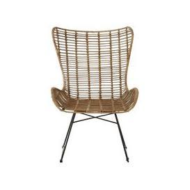 image-Felixvarela Iron Base Wing Chair In Grey