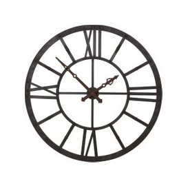 image-Oversized Lit Skeleton Wall Clock