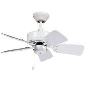image-76.2cm Boutwell 5 Blade Ceiling Fan ClassicLiving Finish: White Lacquered