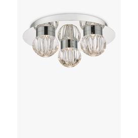 image-Där Zondra LED Semi Flush Ceiling Light, Polished Chrome