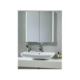 image-John Lewis & Partners Trace Double Mirrored and Illuminated Bathroom Cabinet