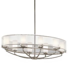 image-KL/SALDANA8 Saldana 8 Light Oval Chandelier with Soft Shades