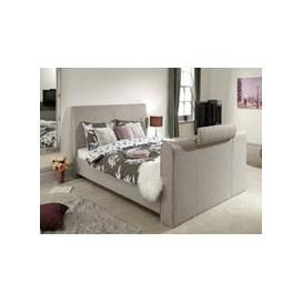 image-Milan Bed Company Brooklyn TV Bed,Light Grey