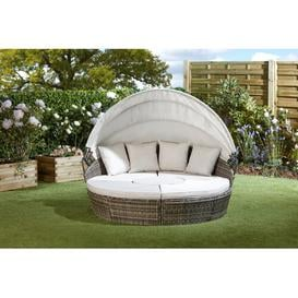 image-Tuveson Garden Daybed with Cushions Sol 72 Outdoor Colour (Frame): Tonal Grey