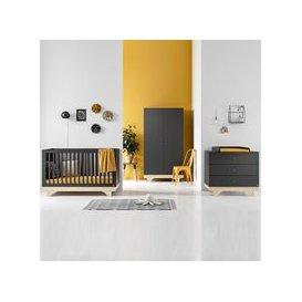 image-Vox Playwood Cot Bed 3 Piece Nursery Furniture Set - Graphite